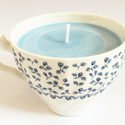 Blueberry Muffin Scented Teacup Candle