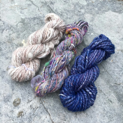 Woolly Blues - Handspun Weaving Pack