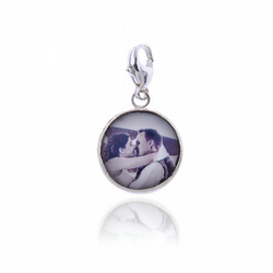 Silver Photo Locket Charm or Pendant