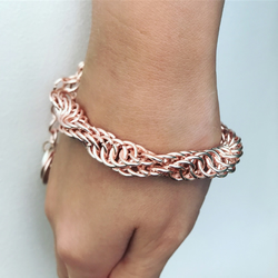 Double spiralled chainmail bracelet