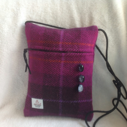 Harris tweed messenger bags