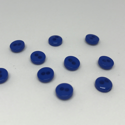 Pack of 10 5mm royal blue buttons.