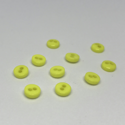 Pack of 10 5mm bright yellow buttons.