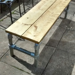 Bench Dining Outdoor Industrial Design Hand Made