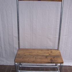 Coat stand, shoe rack, hall seat combined industrial style scaffold products