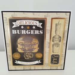 Just for you greeting card - Burgers and fast food