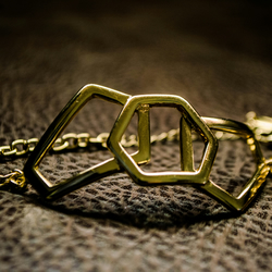 Limited Stock! Gold Geometric Honeycomb Bracelet - Designed in London