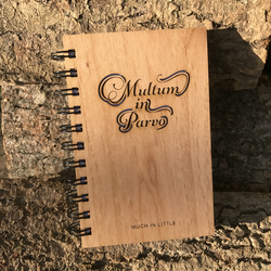 Laser cut and engraved handmade notebook - Much in Little
