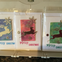 Christmas cards, handcrafted,pack of 3