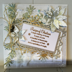 Christmas card handcrafted, multi layered, family sentiment