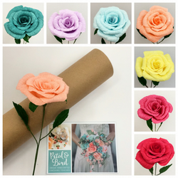 Single Stem Paper Rose MOTHER'S DAY-VALENTINE'S DAY-BRIDESMAID-ANNIVERSARY GIFT