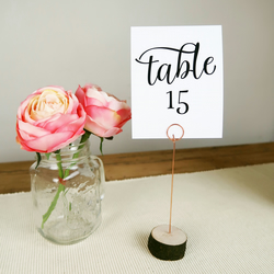 Rustic Wooden Table Number Name Holders for Weddings Events & Parties - 15cm