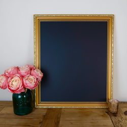 "Large Vintage Gold Chalkboard Frame 20x17"" - for Weddings, Events or Parties"