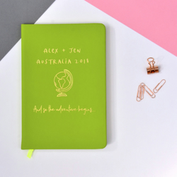 Personalised Travel Journal A5 Lined Notebook - Gap Year Gifts - Trip Journal
