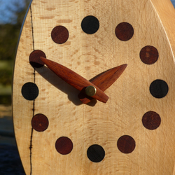 Desktop Clock with carved wooden hands
