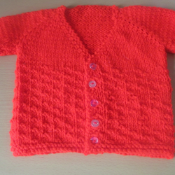 Unisex baby short sleeved cardigan size Newborn in Various colours