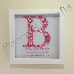Baby's Birth details button Frame