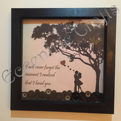 'The moment I realised I loved you' button frame