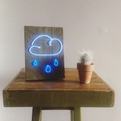 Rain cloud neon light sign
