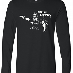 Fear The Living Mens Long Sleeve Tee