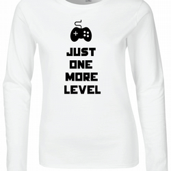 Just One More Level Womens Fitted Long Sleeve Tee