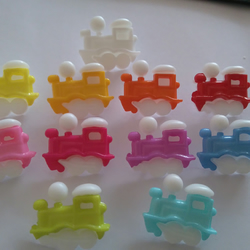 6 train shaped buttons crafts knitting sewing