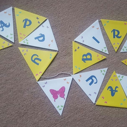 Butterfly Happy Birthday bunting