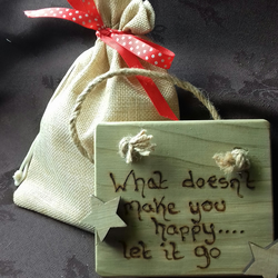 Small Wooden Hanging Plaque