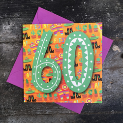 60th birthday card - fiesta time