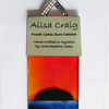 Ailsa Craig Fused Glass Sun-Catcher - Red