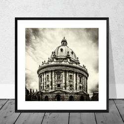 The Radcliffe Camera in Oxford (B&W) in 10 x 10 inch Mount