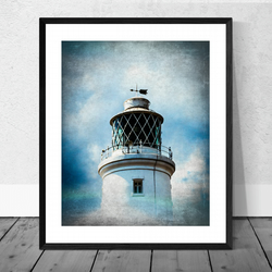 The Lighthouse at Southwold Print in 12 x 10 inch Mount