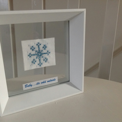 Snowflake Needlecraft Artwork - Baby it's cold outside