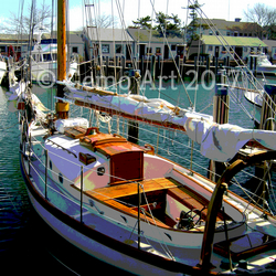 "Sailing Boat, Nantucket, USA - Poster print 20"" x 16"""