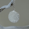 Eco Silver Winter Solstice disc pendant - fully hallmarked