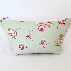 Sage Rosebud Cosmetic Bag