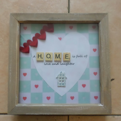 Love And Laughter Wooden Box Frame