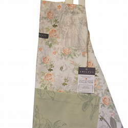 Royal English Kitchen Apron, Nature Apron, Garden Floral Apron, Cotton Apron,