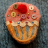 Button Cupcake Brooch