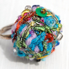 SALE Funky Scumbled Crochet Ring