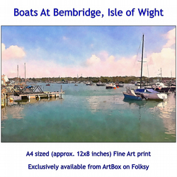 Boats At Bembridge - Quality Fine Art Print