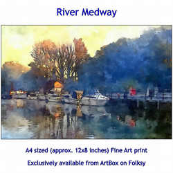 The River Medway  - Quality Fine Art Print
