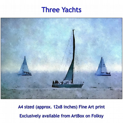 Three Yachts- Quality Fine Art Print