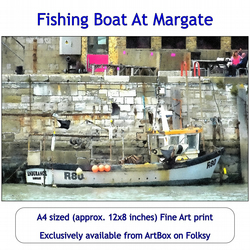 Fishing Boat At Margate - Quality Fine Art Print