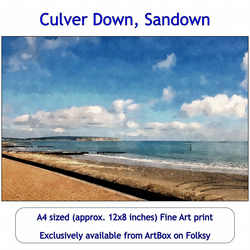 Culver Down, Isle of Wight - 12x8 inch Fine Art Print