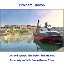 Brixham Harbour, Devon - Quality Fine Art Print