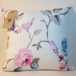 Beautiful floral Clarke and Clarke cotton cushion cover