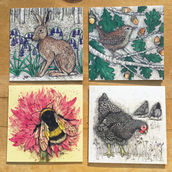 Animal Greetings Cards Mix & Match
