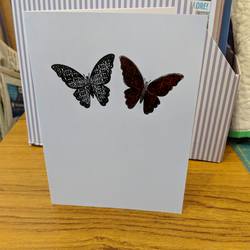 'Butterfly Kisses' Valentine's Day card