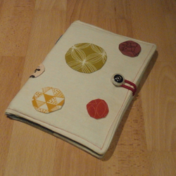 A5 Bubble patterned, Linen Notebook Cover with Lined Notebook